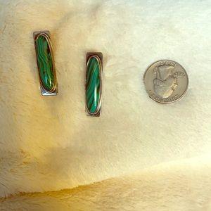Gorgeous Sterling Silver & Jade Earrings
